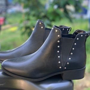 Women's Chelsea Black Ankle High Boot Ladies Shoe